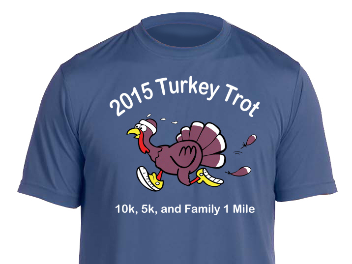 turkey trot tshirt cropped
